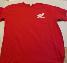Honda Racing Motocross ATV T-Shirt White Logo L Red Shirt Color free shipping