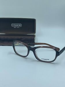 NEW COACH HC 6097 5430 DARK BROWN AUTHENTIC EYEGLASSES RX 52-18 FAST SHIP