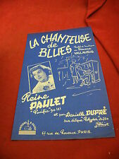 Partition La chanteuse de blues Simone Vallauris Reine Paulet