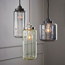 Retro POTTERY BARN Paxton Glass 3-Light Pendant Chandelier Fixture Lamp , NEW