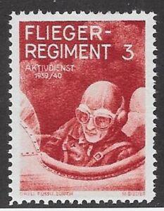 Switzerland WWII Soldier stamp: Flieger Air Force, FLI #28: FL.REG.3 - sw193n