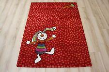 Kinderteppich Spielteppich Sigikid SK-0523-02 Rainbow Rabbit 80x150 cm rot