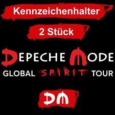 2 STÜCK * DEPECHE MODE * KFZ KENNZEICHENHALTER * GLOBAL SPIRIT TOUR 2017 * NEU