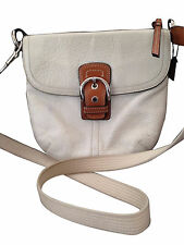 Coach Soho Pebbled Leather Shoulder Bag - White Ivory Style F13105   Cross Body