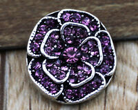 DIY 3D Rhinestone Drill Snaps Chunk Charm Button Fit For  Leather Bracelets */1