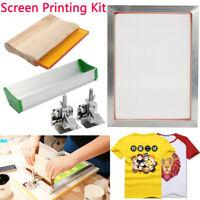 T-Shirt DIY Starter Kit Siebdruck Sieb Rakel Emulsion Alu Rahmen Squeegee   3 E
