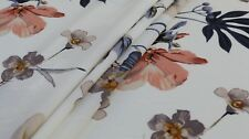 Imprimé Laine Pêche Tissu – large motif floral-Robe Tissu