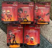 5 Disney The Incredibles Mini Figures: Mr., Violet, Elastigirl, Dash, Jack Jack!