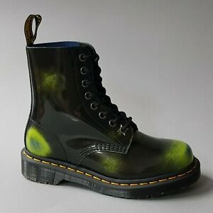 Dr. Martens 1460 Pascal Black Marsh Green Dark Teal 26585001 Docs Stiefel grün