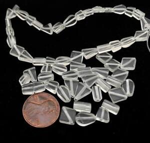 Vintage Clear Crystal Quartz Beads Shapes Mix 30