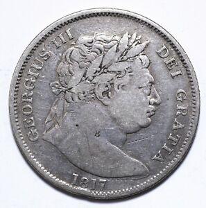 1817, UK, 1/2 Crown, George III, Silver, Fine, KM# 667, Lot [985]