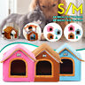 S/M Portable Pet Cat Bed Puppy Dog Beds Cave Soft House Sleeping Bag Mat  &