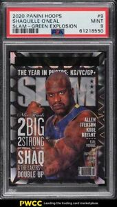 2020 Hoops Slam Green Explosion Shaquille O'Neal /89 #9 PSA 9 MINT
