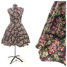 Vintage 1950s 50 dress pinup rockabilly retro floral print medium large costume