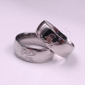 HATCHETMAN GIRL SILVER RING STAINLESS STEEL ICP Etching TWIZTID HIGHLY POLISHED