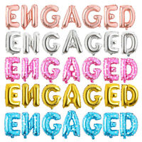 Engaged Balloons Banner Engagement Party Decorations Bunting Rose Gold Silver