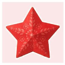 IKEA STRÅLA Star Lamp Shade Strala Light Pendant RED Folk Floral NEW Snowflake