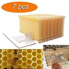 Auto Honey Beekeeping Beehive Raw Bee Comb Hive Harvesting HoneryFrames 7PCS