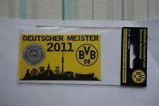 Aufkleber Deutscher Meister 2011 Borussia Dortmund OVP ansehen top