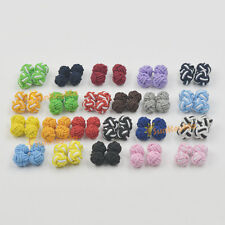 Silk Knot Cufflinks Cuff Links  color random send 20 Pairs