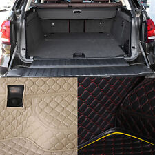 PU Leather Rear Trunk Cargo Liner Protector Mat Seat Back Cover For BMW X5