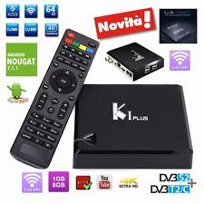 K1 PLUS HEVC 265 4K WIFI S905D S2+DVBT2/C terrestre e satellitare