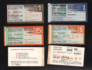 Cold War AAFES Germany gas coupon 4 different CU and cover 3 1980s 1993 rare
