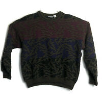 Vintage Giorgio Di Firenze Wool Blend Mens XL Sweater Color Block Coogi Cosby