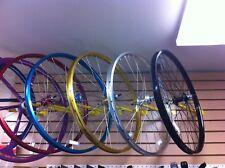"26"" x 1.75 BMX Bike WheelSet Front/Rear FreeWheel Alloy Double Wall Bikes"