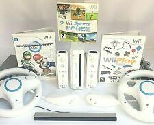 Wii Console + Official Remotes & Nunchuck + Mario Kart/Sports+ *CHOOSE A BUNDLE*