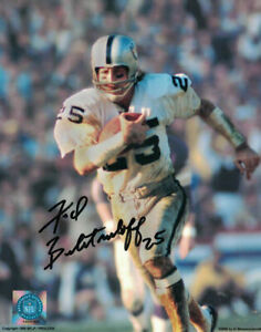 Fred Biletnikoff Autographed/Signed Oakland Raiders 8x10 Photo White Run 15266