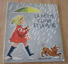 Soft Cover French Booklet Tante Lucille La Petite Claire et la Pluie !