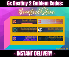 Destiny 2 Emblem Code x6 Harmony Between Stars Cosmic Alignment [PS/PC/XBOX]
