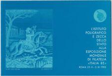 """Italia 1985 - Folder Esposizione Mondiale di Filatelia """"Italia 85"""" con foglietti"""