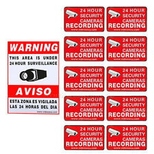 11 HOME CCTV SURVEILLANCE SECURITY SYSTEM ALARM DECALS WARNING SIGNS STICKER b0k