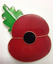 ULSTER POPPY PIN BADGE / 55MM / VERY LARGE SIZE / ULSTER SOUVENIRS BELFAST