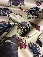 BEAUTIFUL FLORAL PRINT CURTAIN FABRIC BY PANAZ 5 METRES