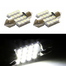 2 ampoules à LED  navettes 31mm 16 LED smd  BLANC plafonnier