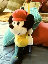 "Vintage Mickey Mouse Golfer Disney Store Plush Stuffed Animal Doll Golfing 15"" N"