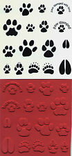 unmounted rubber stamps animal tracks     17 images