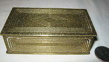 ANTIQUE L.C.T. TIFFANY STUDIOS NY BRONZE SCHOOL GRADUATE ART STAMP TRINKET BOX