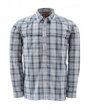 Simms Kenai Shirt ~ Steel Blue Plaid NEW ~ Closeout Size Small