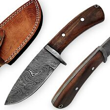 Outdoor Damascus Steel Full Tang Deep Forest Hunting Knife