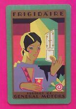 Vintage Swap Playing Card FRIGIDAIRE General Motors Lady Ad Art Deco Ladies