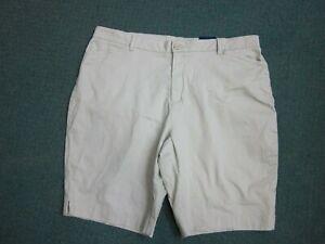 Basic Editions Stretch Stone Bermuda Shorts Women's Size XXL, 2XL, New sm def.