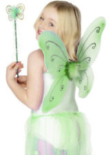 Kids Green Fairy Wings and Wand