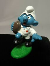 (1) Vintage Rare Rugby Smurf Schleich Peyo 1980 Germany