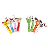 animals mixed wooden lip whistles pinata birthday decoration party toy suppli`DD
