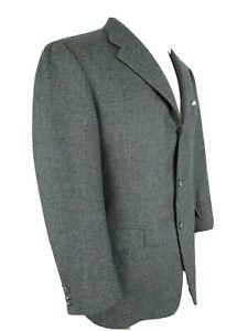Hickey Freeman Tweed SILK WOOL Multicolor Fleck Sport Coat Blazer 3Bt Jacket 40R