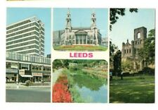 Yorkshire - Leeds - Multiview Postcard Franked 1974